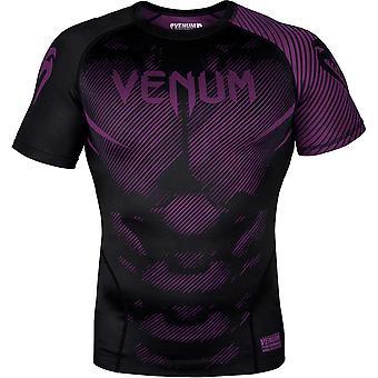 Venum No-Gi 2.0 Kortärmad MMA komprimering Rashguard - svart/lila