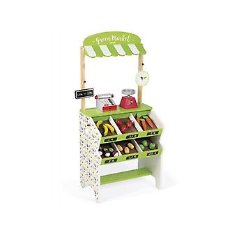 Janod Green Market Grocery Stall Toy