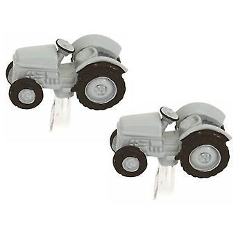 Boutons de manchette Vintage Zennor tracteur - gris