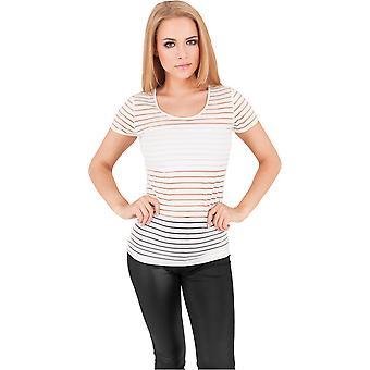 Urban Classics Damen T-Shirt Semi Transparent Scuba Tee