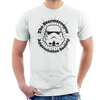 T-shirt original Stormtrooper apreciação sociedade masculina
