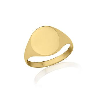 Star Wedding Rings Gold Oval-Shaped Signet Ring