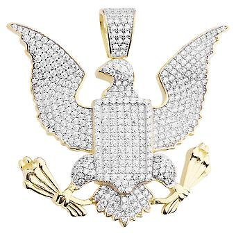 Premium Bling 925 sterling silver great seal Eagle pendant