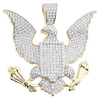 Pendente di Premium Bling 925 argento sterlina Gran sigillo Aquila