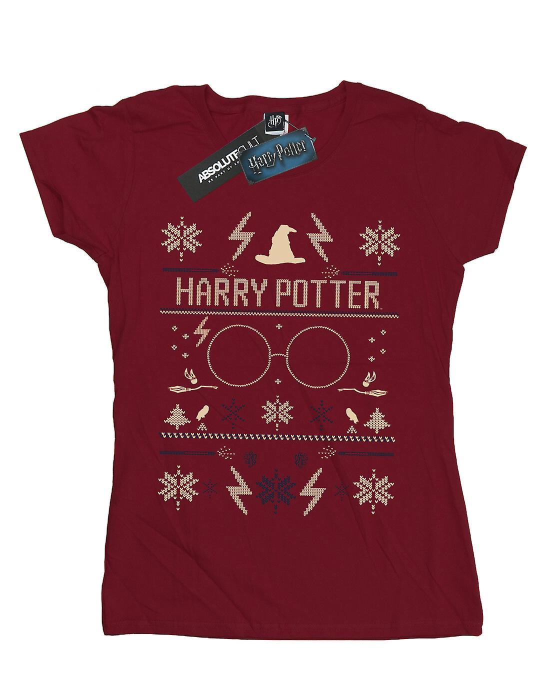 Harry Potter Women's Christmas Pattern T-Shirt