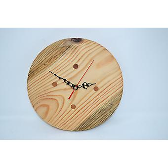 Wood wall clock wood clock clock 24 cm wood unique nature Made in Austria clock pine with cherry inlaypins wallclock clock gift wood decoration wood decoration