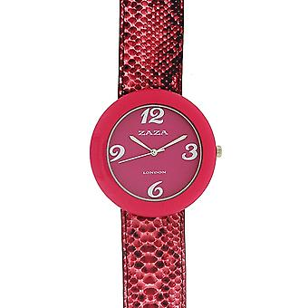 Zaza London Crocodile Effect Pink Dial Ladies Fashion Watch LLB855