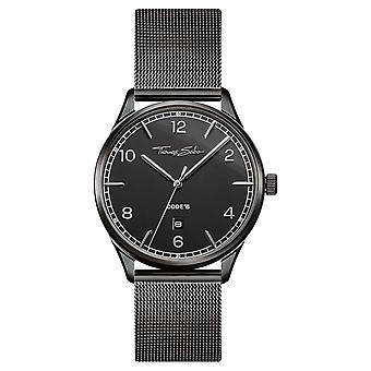 Thomas Sabo | Rustfrit stål sort Mesh armbånd | Sort urskive | WA0342-202-203-40