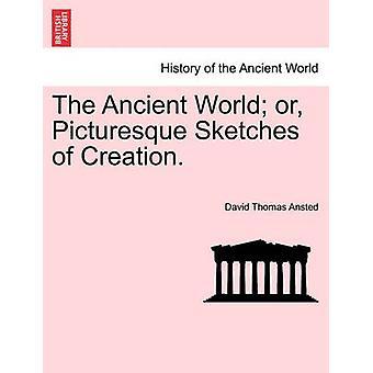 古代の世界または作成の絵のスケッチ。Ansted ・ デイヴィッド ・ トーマスによって