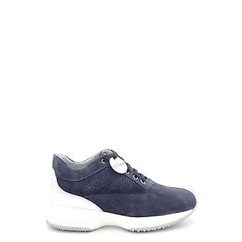 Hogan Ezbc030106 Damen's Blaue Wildleder Sneakers