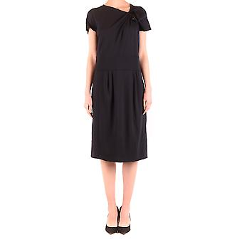 Armani Collezioni Ezbc049125 Women's Black Viscose Dress