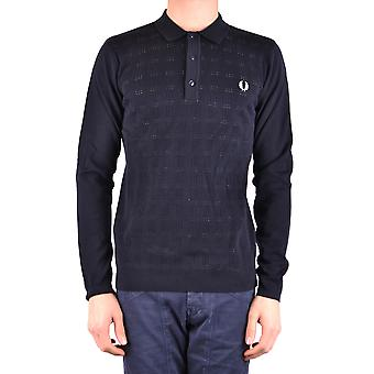 Fred Perry Ezbc094041 Men's Blue Cotton Polo Shirt