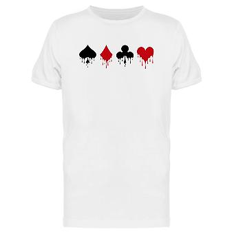 Symbols Deck Playing Poker Tee Men's -Image by Shutterstock