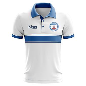 Mari El Konzept Stripe Polo-Shirt (weiß)