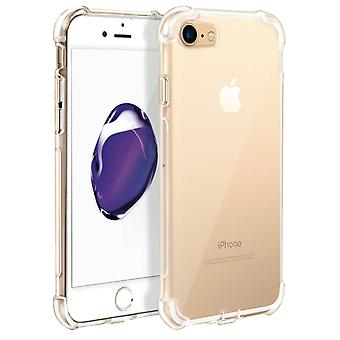 Apple iPhone 7 / 8 Case, Enforced Angles, Silicone Skin - Transparent
