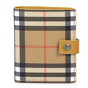 Burberry Small Vintage Check et Tan Leather Folding Wallet