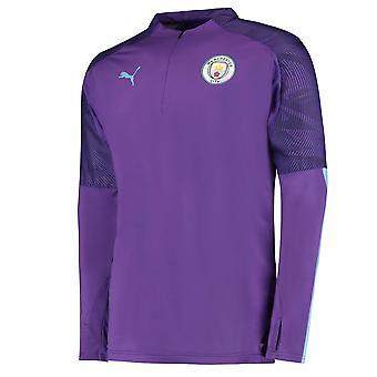 Puma Manchester City 2019/20 Kids Quarter Zip Training Top Jacket Purple