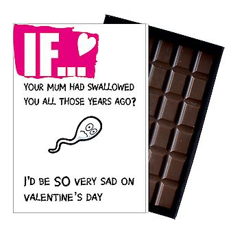 Funny Valentines Day Gifts For Boyfriend Husband Man Rude Boxed Chocolate IF105