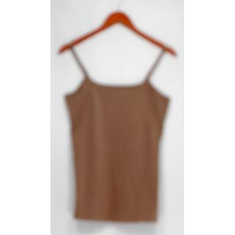 Liz Claiborne Top New York Essentials colher pescoço Camisole Brown A264114