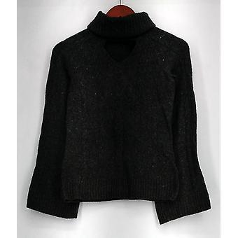 G.I.L.I. lo tiene me encanta suéter XXS cuello de tortuga cerradura suéter gris A297944