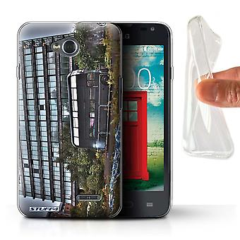 STUFF4 Gel TPU Case/Cover for LG L65/D280/Derelict Bus/London England