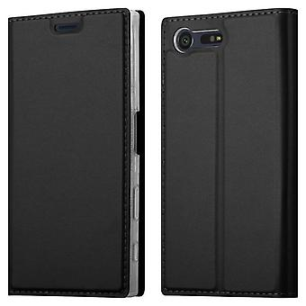 Cadorabo Hülle für Sony Xperia X COMPACT hülle case cover - Handyhülle mit Magnetverschluss, Standfunktion und Kartenfach – Case Cover Schutzhülle Etui Tasche Book Klapp Style