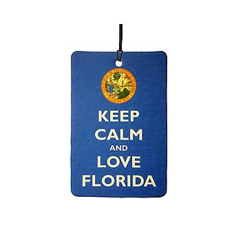 Keep Calm And Love Florida Car Air Freshener