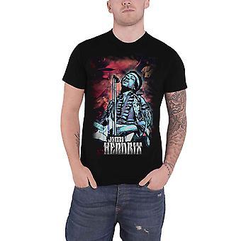 Jimi Hendrix T Shirt Universe Guitar Stance Logo new Official Mens Black