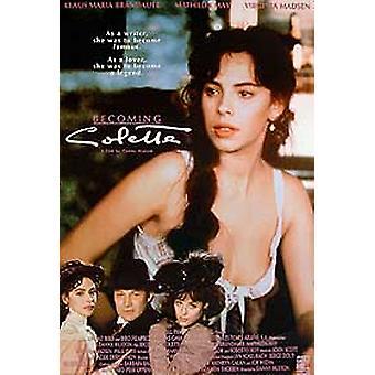 Tornando-se Colette poster cinema original
