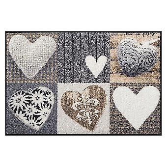 Salon Leeuw voet mat wasbaar Alpen geluk hart 50 x 75 cm, SLD0122-050 x 075
