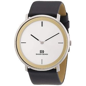 """ساعة اليد """"تصميم الدانمركية"""" 3314440 الرجال والجلود واللون: أسود"""