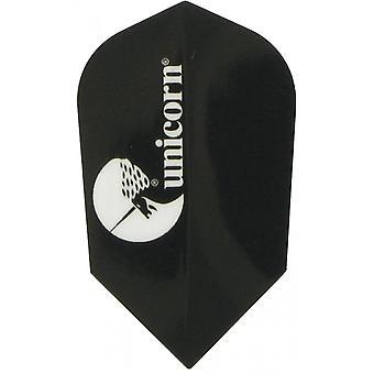 Unicorn Darts Maestro.100 Slim Shape Flights Ultra Strong - Black
