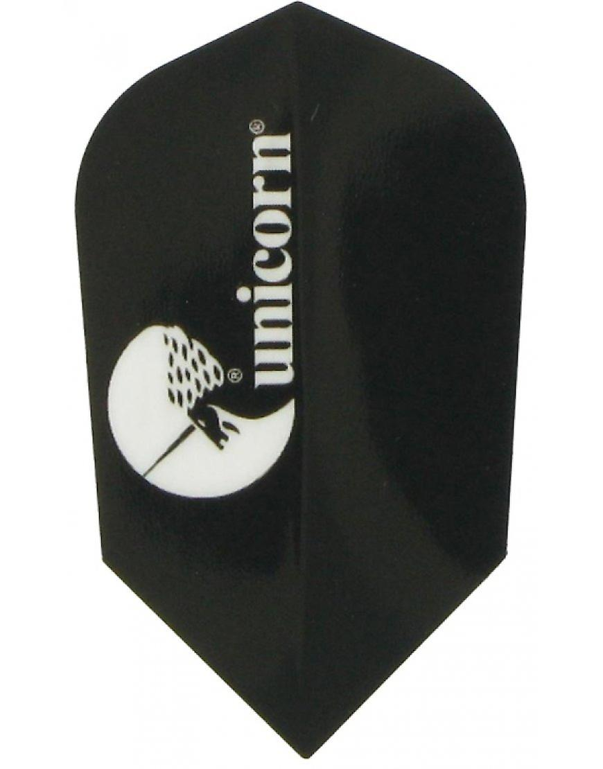 Unicorn Darts Maestro.100 Slim Shape Flights Ultra Strong - Black