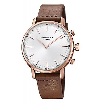 Kronaby S1401-1 Women's Carat Hybrid Smartwatch With Brown Strap