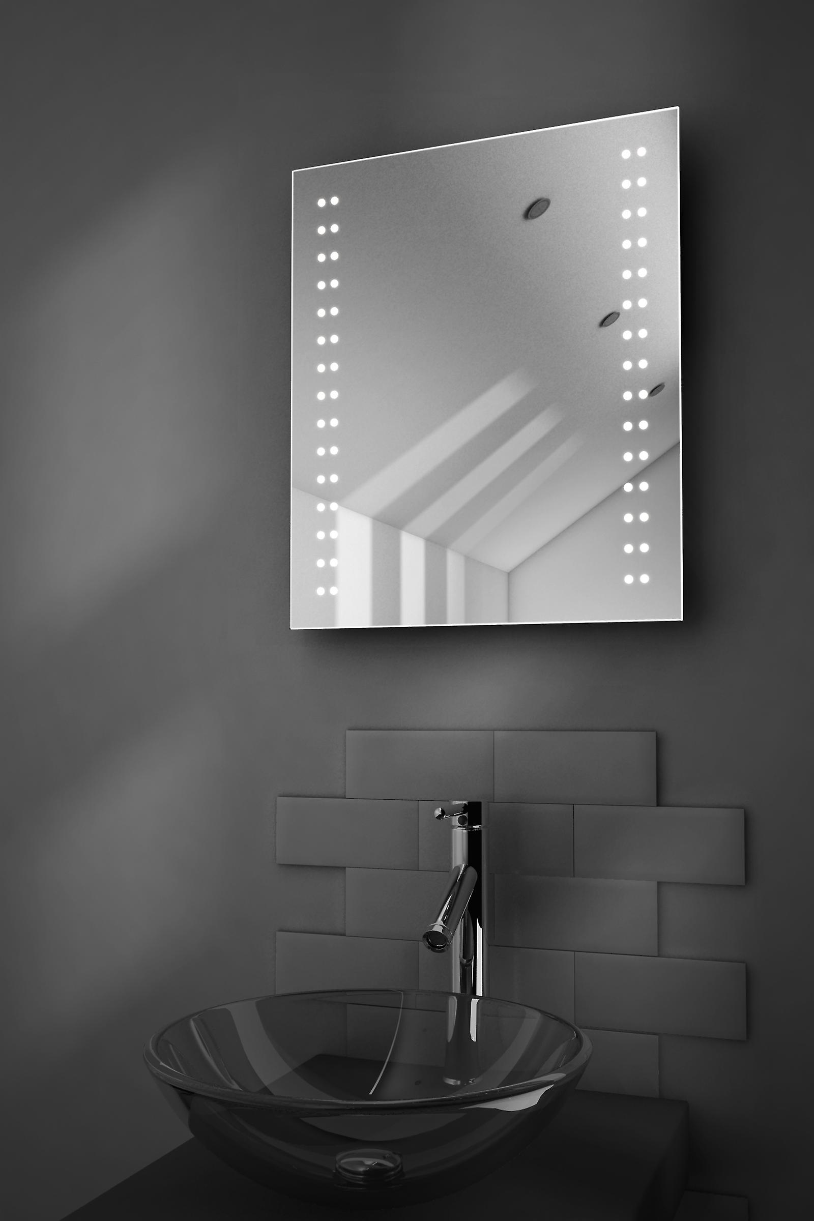 Fantasy Shaver LED Bathroom Mirror With Demister Pad & Sensor k38s