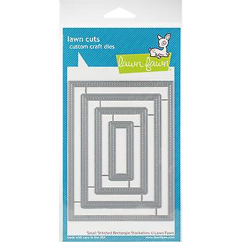 Lawn Cuts Custom Craft Die-Small Stitched Rectangle