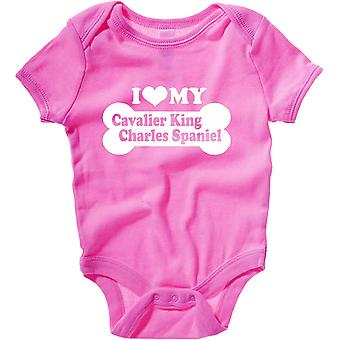 Body neonato rosa raspberry fun2002 i love my cavalier king charles spaniel
