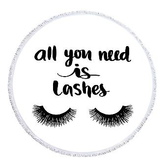 All You Need Is Lashes Beach Towel