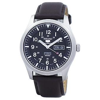 Seiko 5 Sport automatische Japan gemacht Verhältnis dunkelbraun Leder Snzg15j1-ls11 Herren's Uhr