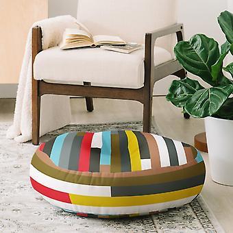 Color lines soft floor pillow