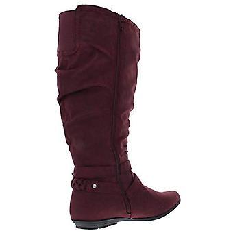 CLIFFS BY WHITE MOUNTAIN Womens Fairfield Knee-High Boots Red 7.5 Medium (B,M)