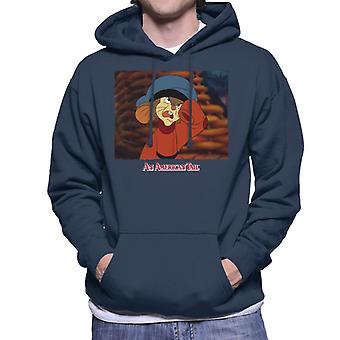 An American Tail Fievel Angry Men's Hooded Sweatshirt