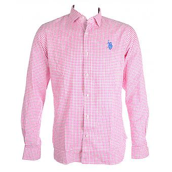 Amerikaanse Polo Assn. Lowell Slim Fit geruite roze Shirt