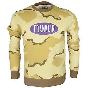 Franklin & Marshall Mf281 Round Neck Printed Logo Desert Camo Sweatshirt