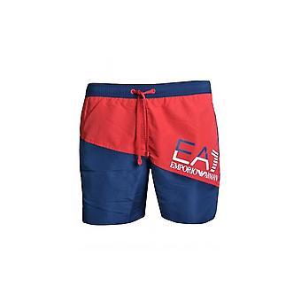 EA7 Men's ropa Emporio Armani marino/rojo bañador