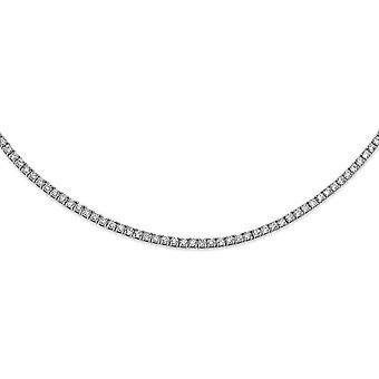 2.79mm Cheryl M 925 Sterling Silver CZ Cubic Zirconia Gesimuleerde Diamanten Ketting 18 Inch Sieraden Geschenken voor vrouwen