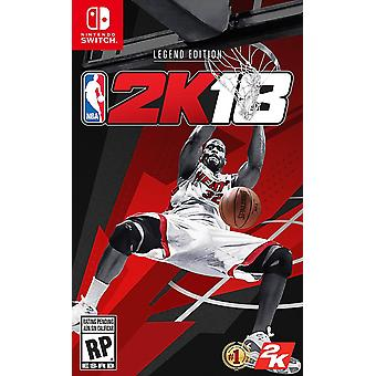 NBA 2K légende 18 édition Switch jeu