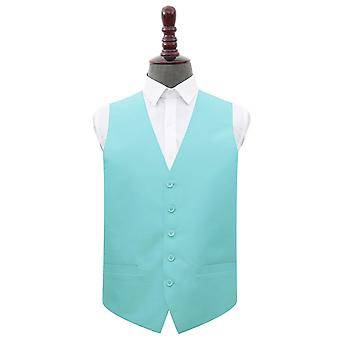Tiffany Green Plain Shantung Bruiloft Vest