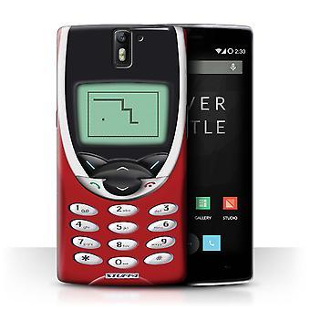 STUFF4 Gehäuse/Deckel für OnePlus One/rot Nokia 8210/Retro Telefone