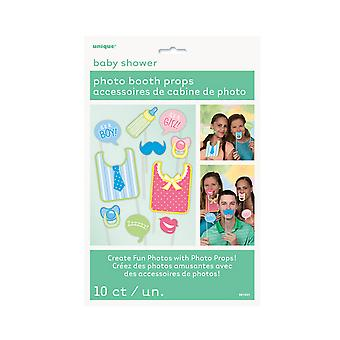 Unique Party Baby Shower Photo Booth Props (Pack Of 10)
